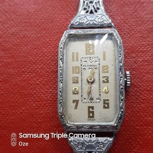 Vintage watch  filigree rolled white gold